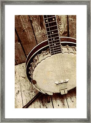 Vintage Banjo Barn Dance Framed Print by Jorgo Photography - Wall Art Gallery