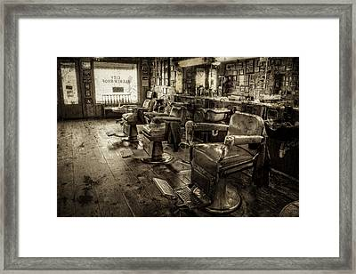 Vintage Barber Shop Framed Print