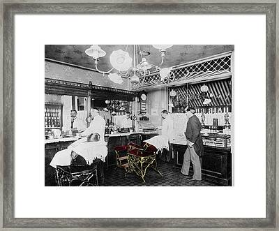 Vintage Barbershop 4 Framed Print