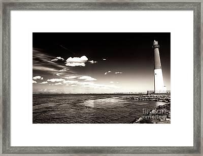 Vintage Barnegat Lighthouse Framed Print