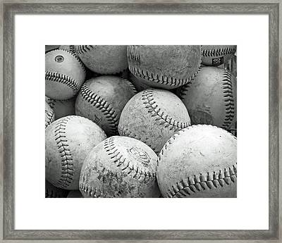 Vintage Baseballs Framed Print by Brooke T Ryan