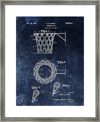 Vintage Basketball Net Patent Framed Print by Dan Sproul