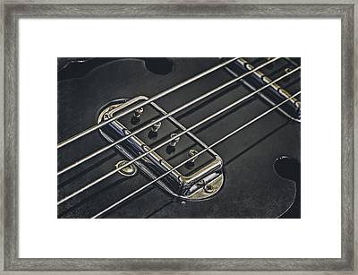 Vintage Bass Framed Print