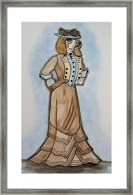 Vintage Bassett Hound Framed Print