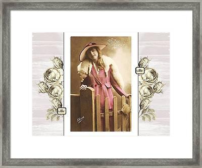 Vintage Beauty Framed Print
