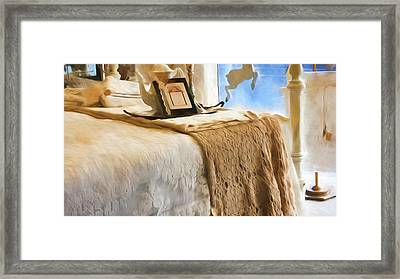 Vintage Bed Framed Print