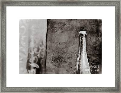Framed Print featuring the photograph Vintage Beer Bottle by Andrey  Godyaykin