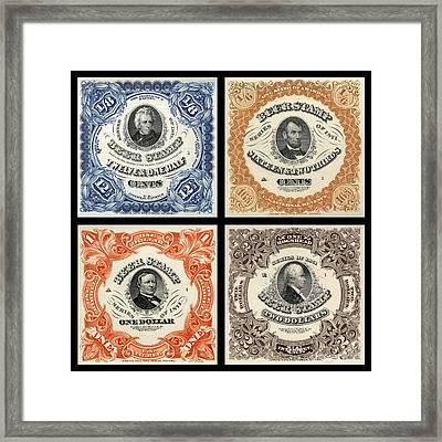 Vintage Beer Taxation Stamps  Framed Print