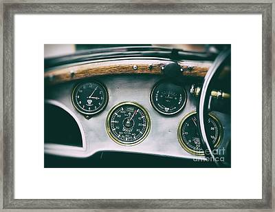 Vintage Bentley Dashboard Framed Print by Tim Gainey