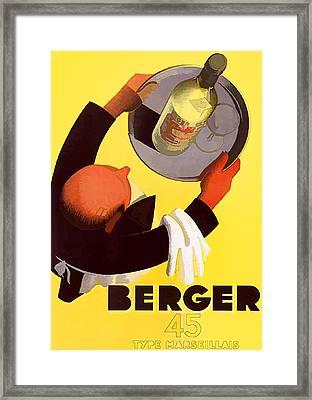 Vintage Berger Wine Advert - Circa 1935 Framed Print