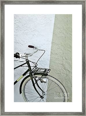 Vintage Bicycle Framed Print by Carlos Caetano