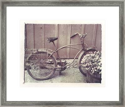 Vintage Bicycle Framed Print by Jane Linders