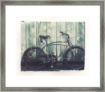 Vintage Bike Polaroid Transfer Framed Print
