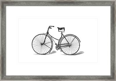 Framed Print featuring the digital art Vintage Bike by ReInVintaged