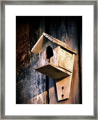 Vintage Birdhouse Framed Print by Jen McKnight