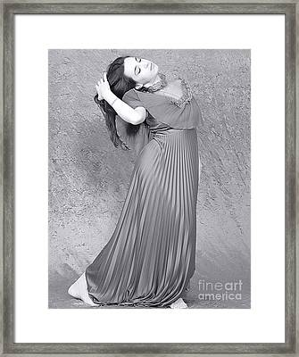 Vintage Black And White Framed Print by Clayton Bruster