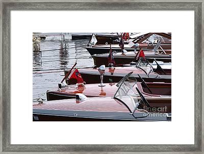 Vintage Boats Framed Print