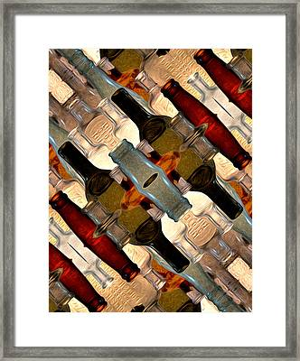Vintage Bottles Abstract Framed Print