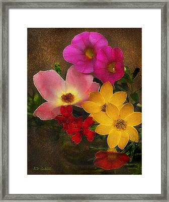 Vintage Bouquet Framed Print by Ed Gage