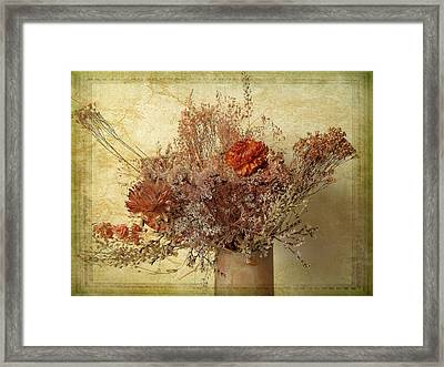 Vintage Bouquet Framed Print by Jessica Jenney