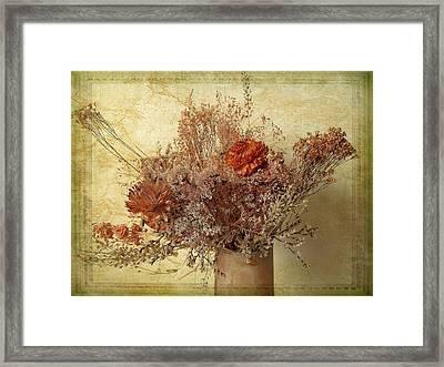 Vintage Bouquet Framed Print by Jessica Jenney