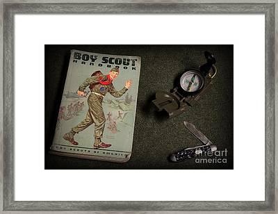 Vintage Boy Scouts Framed Print