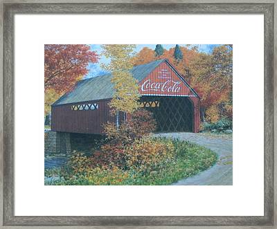 Vintage Bridge American Coca Cola Framed Print