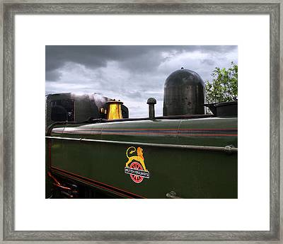 Vintage British Rail Steam Train Framed Print by Gill Billington