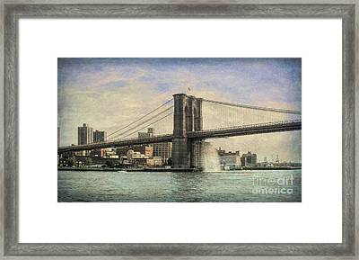 Vintage Brooklyn Bridge Framed Print