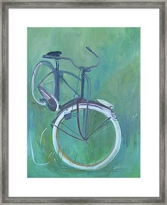 Vintage Brown Bike Framed Print