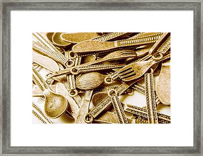 Vintage Buffet Framed Print by Jorgo Photography - Wall Art Gallery