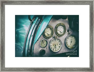 Vintage Bugatti Instruments Framed Print by Tim Gainey