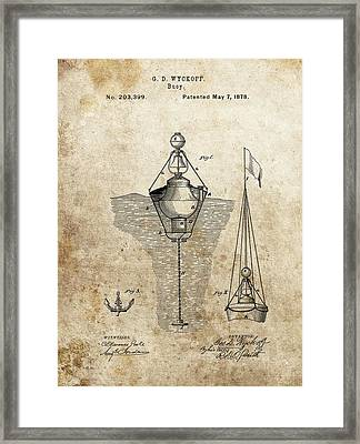 Vintage Buoy Patent Framed Print by Dan Sproul