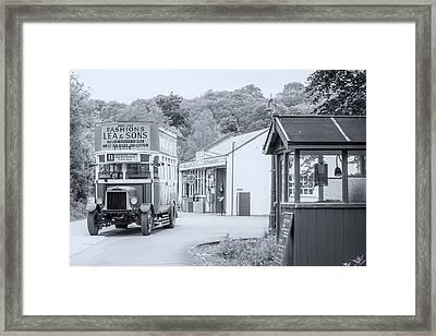 Vintage Bus Framed Print by Angela Aird