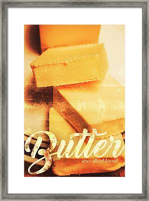 Vintage Butter Advertising. Kitchen Art Framed Print by Jorgo Photography - Wall Art Gallery