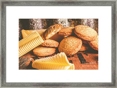 Vintage Butter Shortbread Biscuits Framed Print