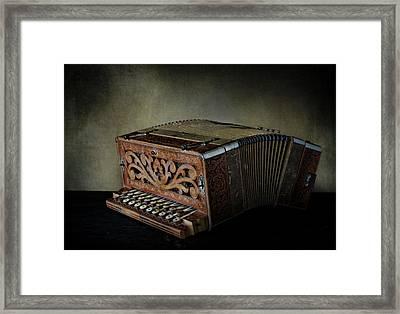 Vintage Button Accordion Framed Print