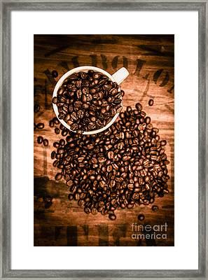 Vintage Cafe Artwork Framed Print by Jorgo Photography - Wall Art Gallery