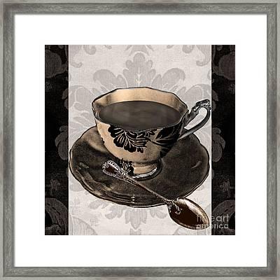 Vintage Cafe Iv Framed Print by Mindy Sommers