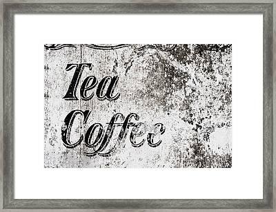 Vintage Cafe Sign Framed Print by Tom Gowanlock