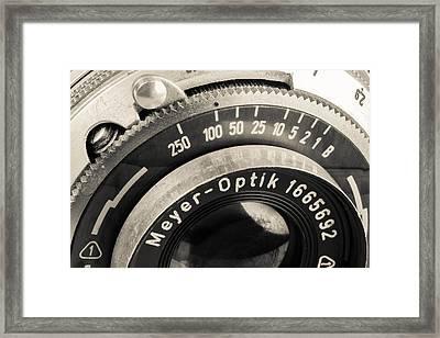Vintage Camera -1 Framed Print by Rudy Umans