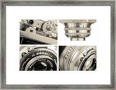 Vintage Camera - Collage Framed Print by Rudy Umans