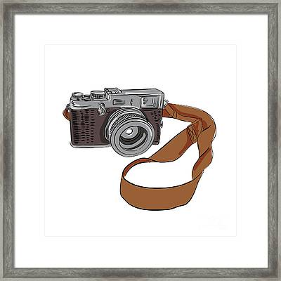 Vintage Camera Drawing Isolated Framed Print by Aloysius Patrimonio