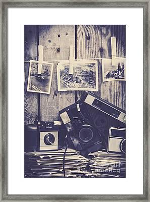 Vintage Camera Gallery Framed Print