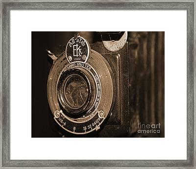 Vintage Camera Lens Framed Print