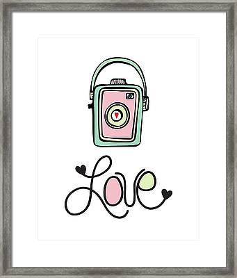 Vintage Camera Love Framed Print by Colleen VT