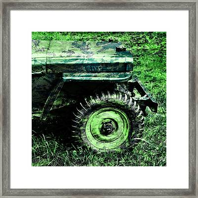 Vintage Camo Willys Framed Print by Luke Moore