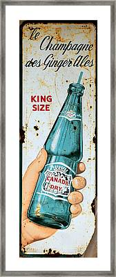 Vintage Canada Dry Sign Framed Print by Andrew Fare