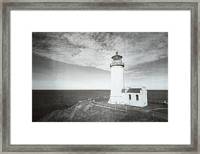 Vintage Cape Disappointment Lighthouse Framed Print