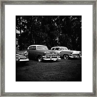 Vintage Car And Holga 120 Framed Print by Mikael Jenei